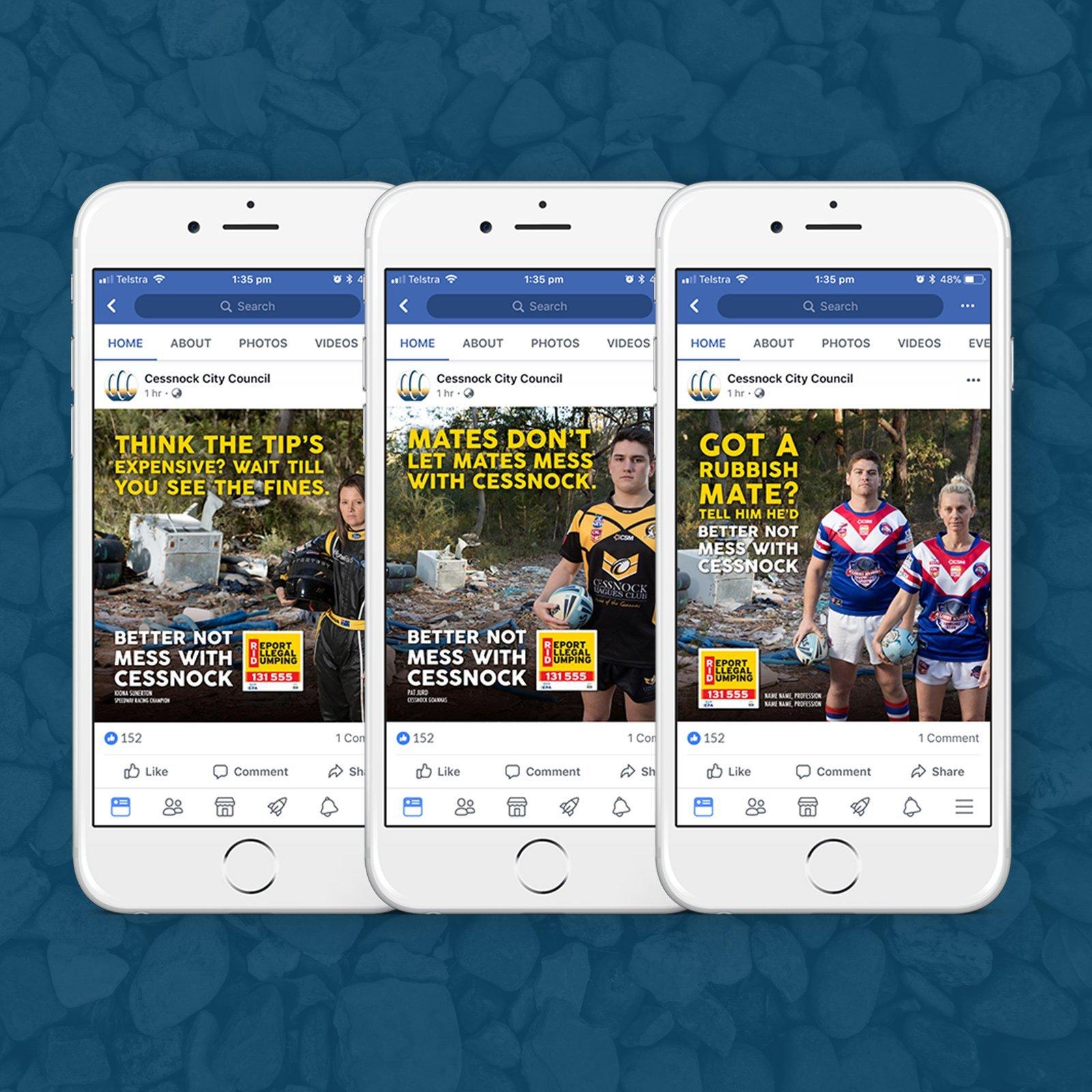Cessnock City Council Illegal Dumping Social Media Campaign