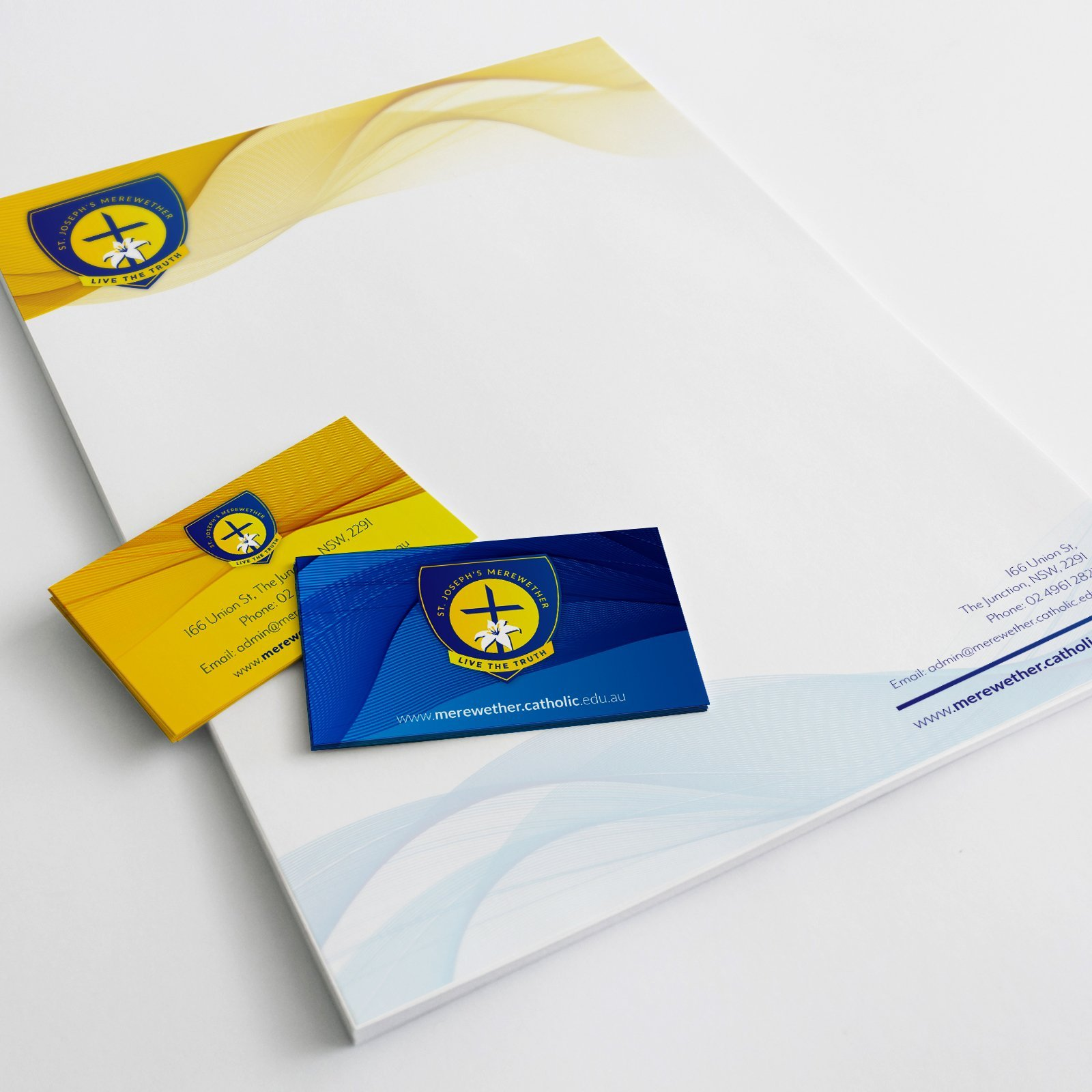 Catholic Schools Office Letterhead and Business Card