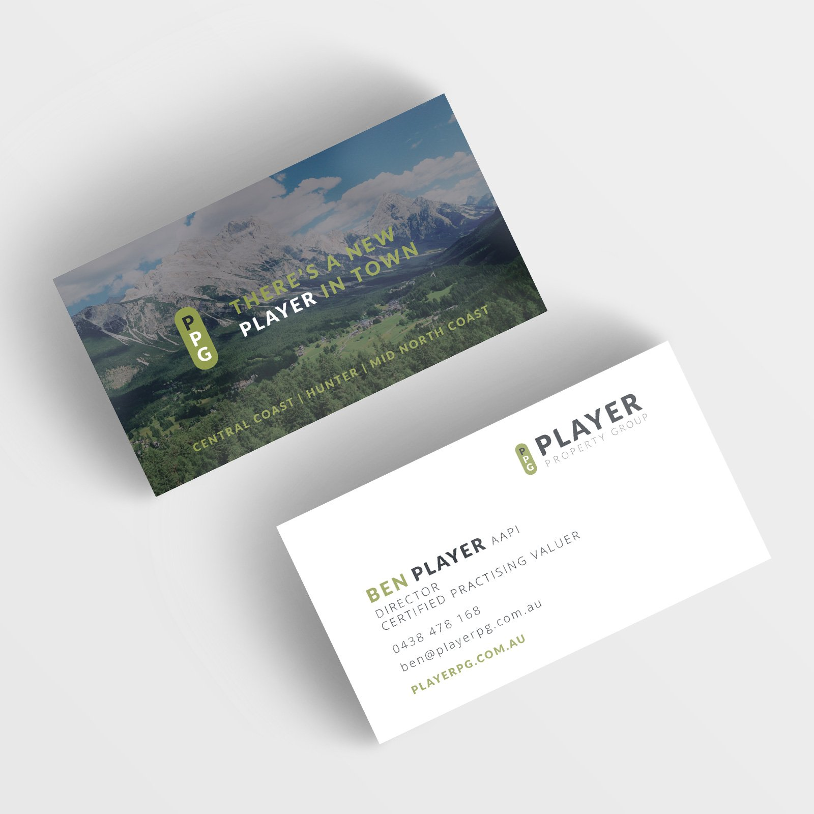 Player Property Group Business Cards