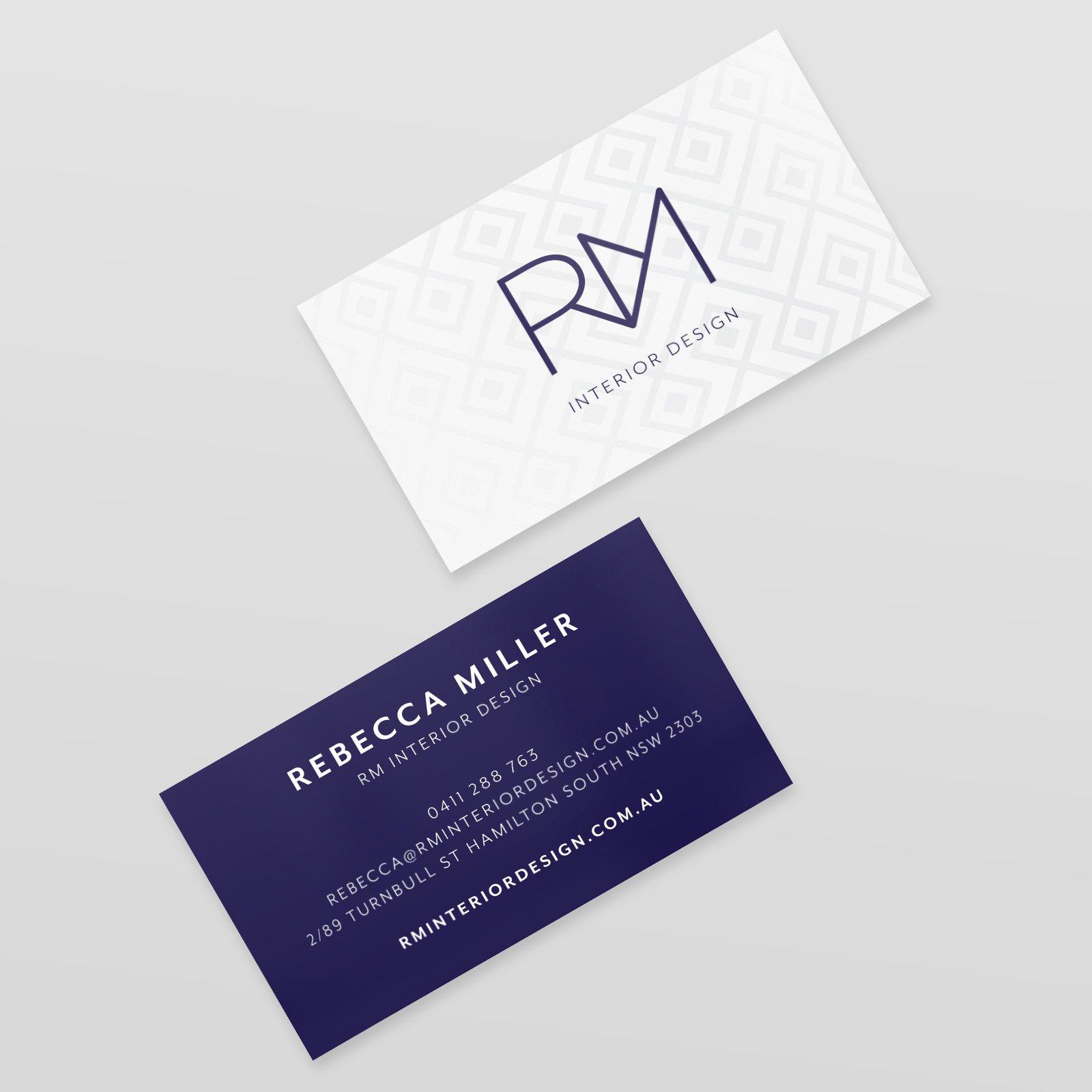 RM Interior Design Business Card