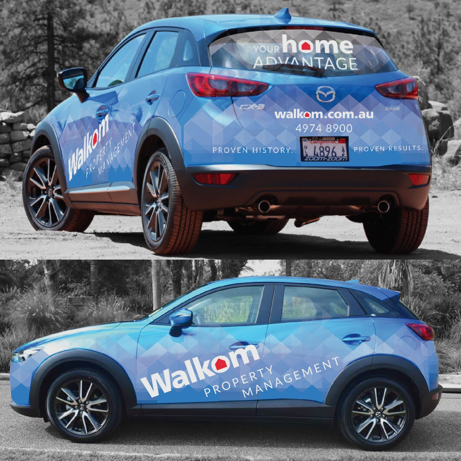 Walkom Real Estate Vehicle Wrap