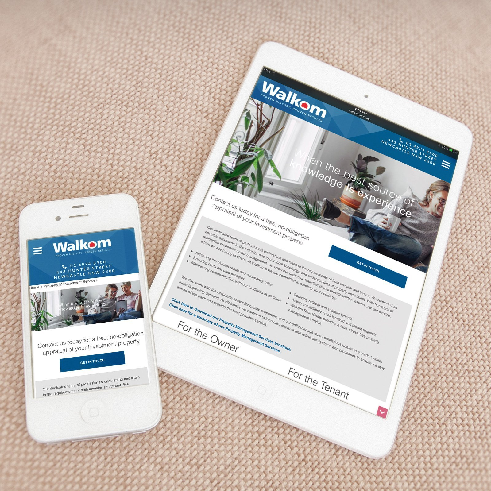 Walkom Real Estate Responsive Website
