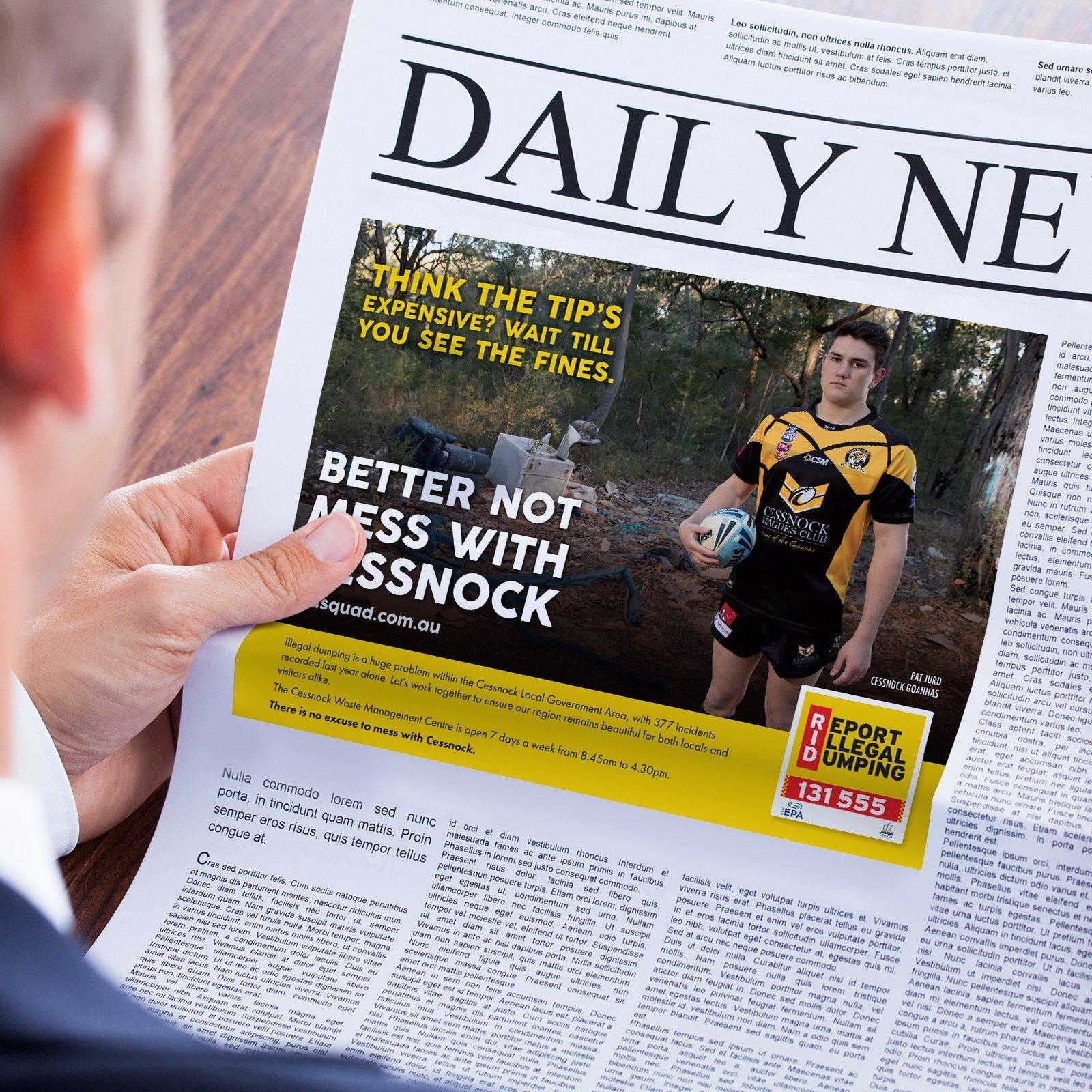 Cessnock City Council Press Advertisement