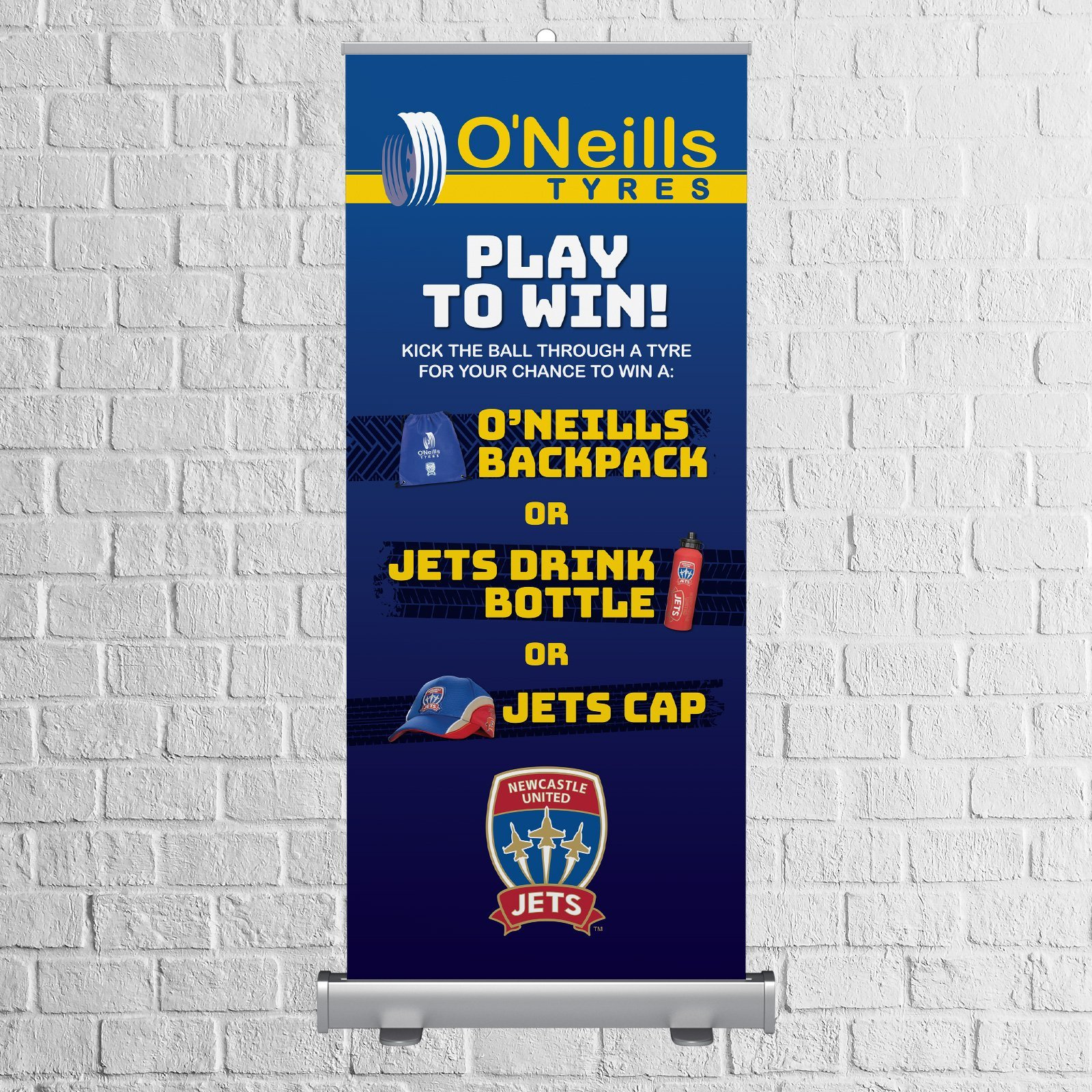 O'Neill's Tyres Event Pull Up Banner