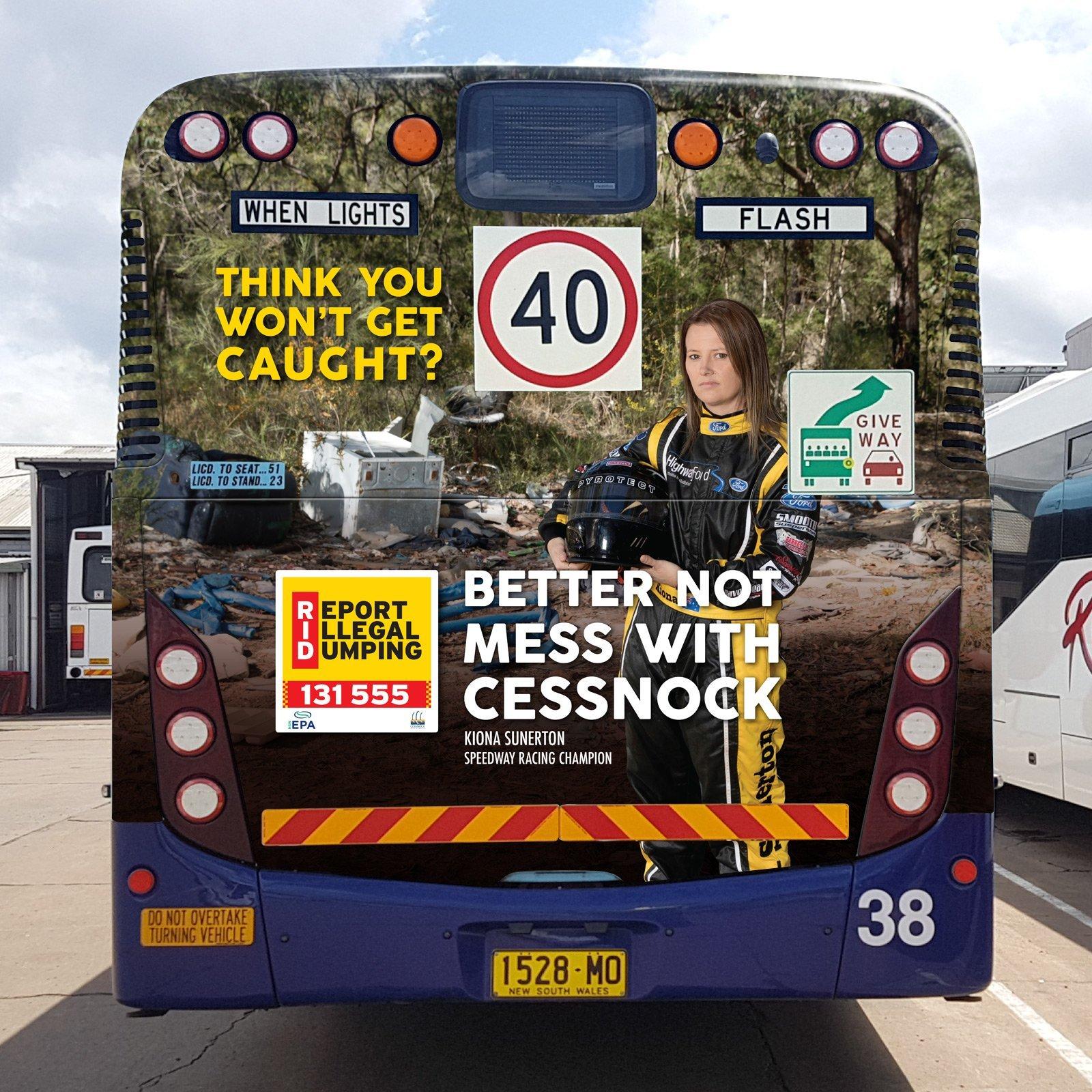 Cessnock City Council Bus Wrap