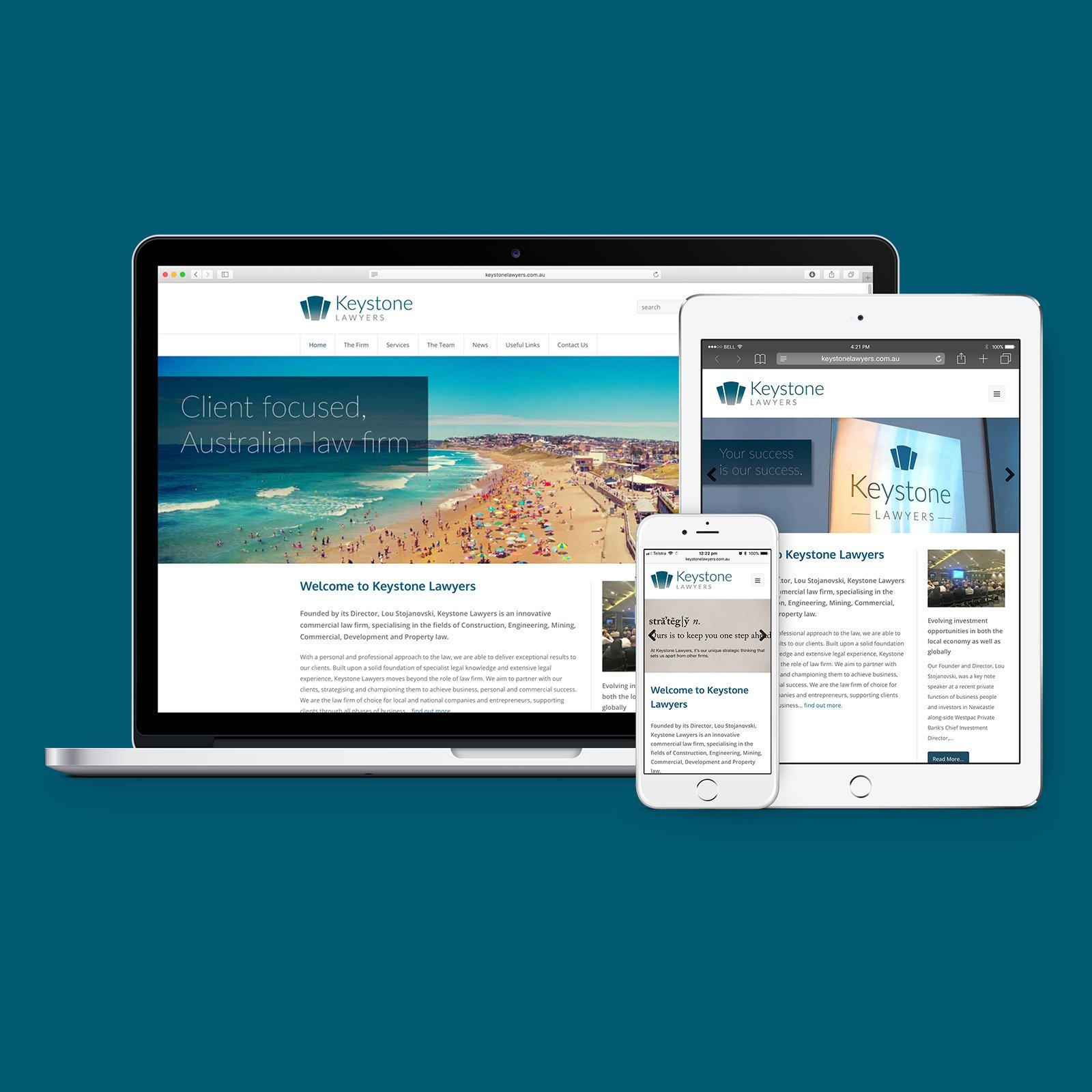 Keystone Lawyers Responsive Website