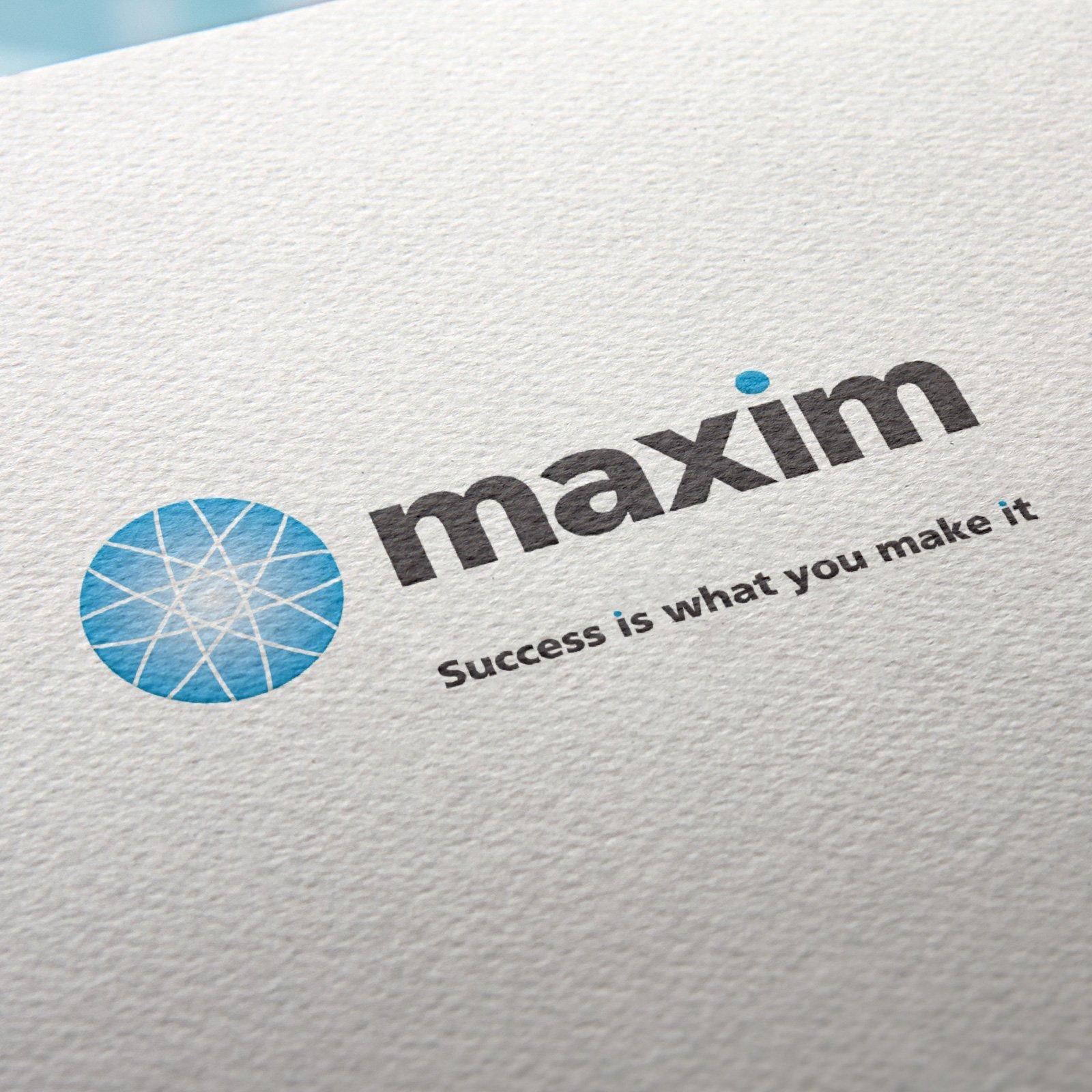 Maxim Logo and Tagline