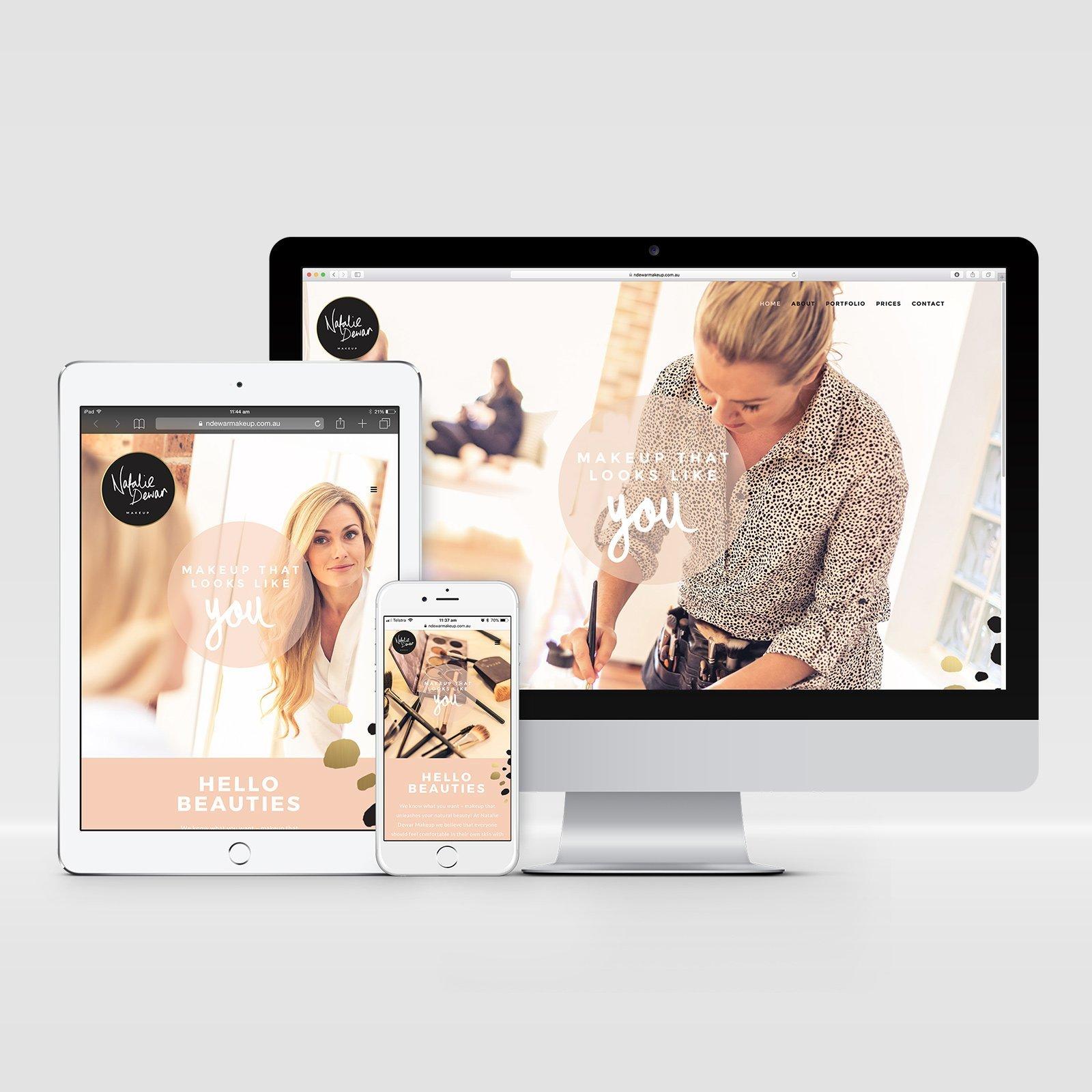 Natalie Dewar Makeup Responsive Website