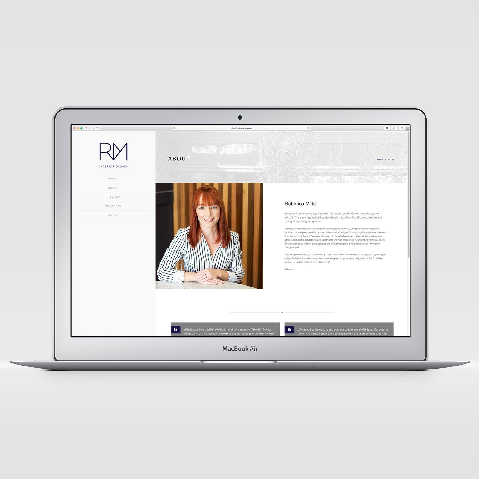 RM Interior Design Responsive Website