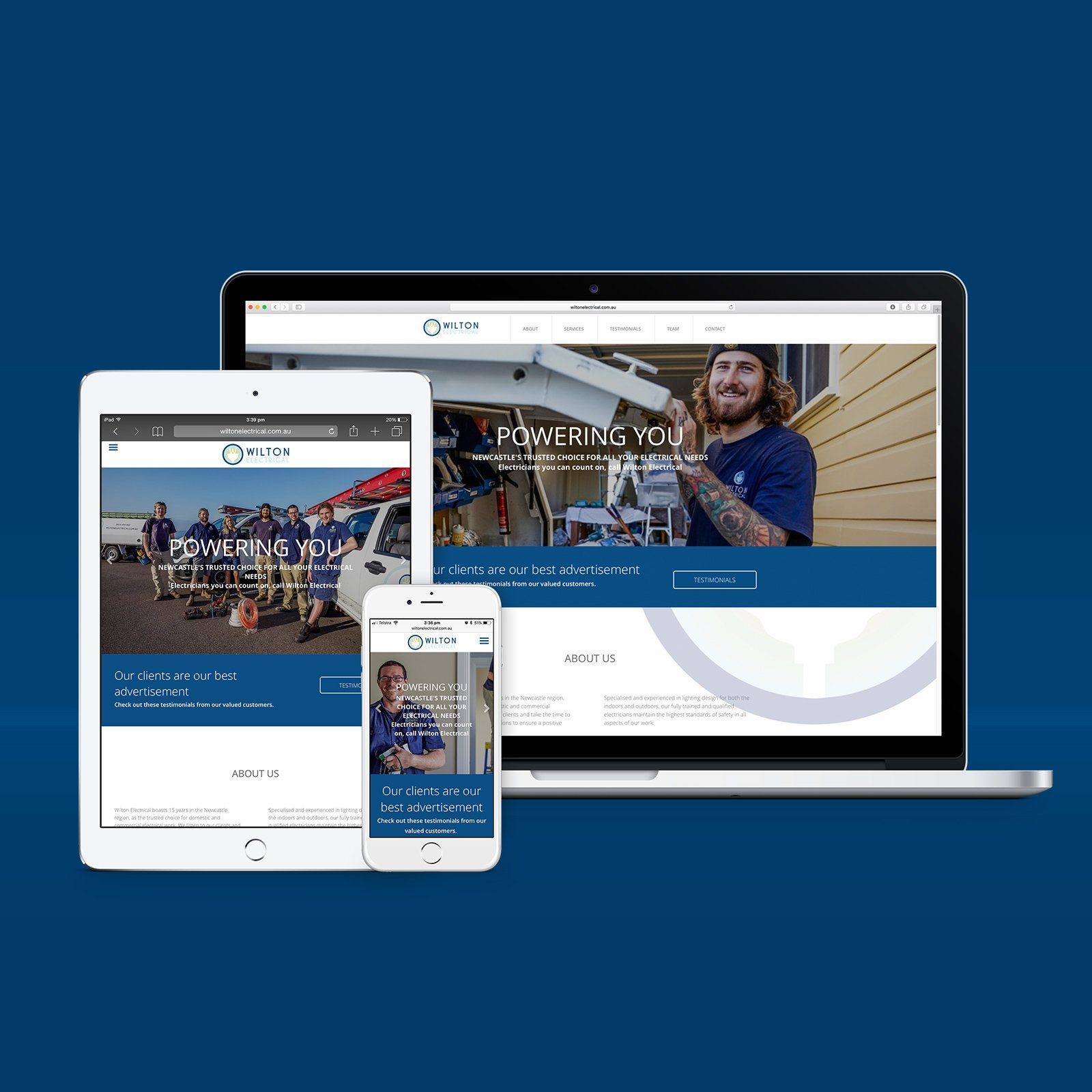 Wilton Electrical Responsive Website