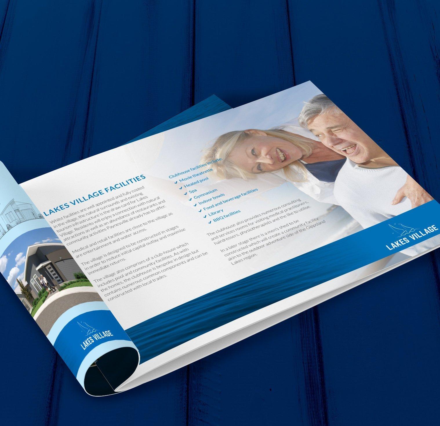 Lakes Village Brochure Design