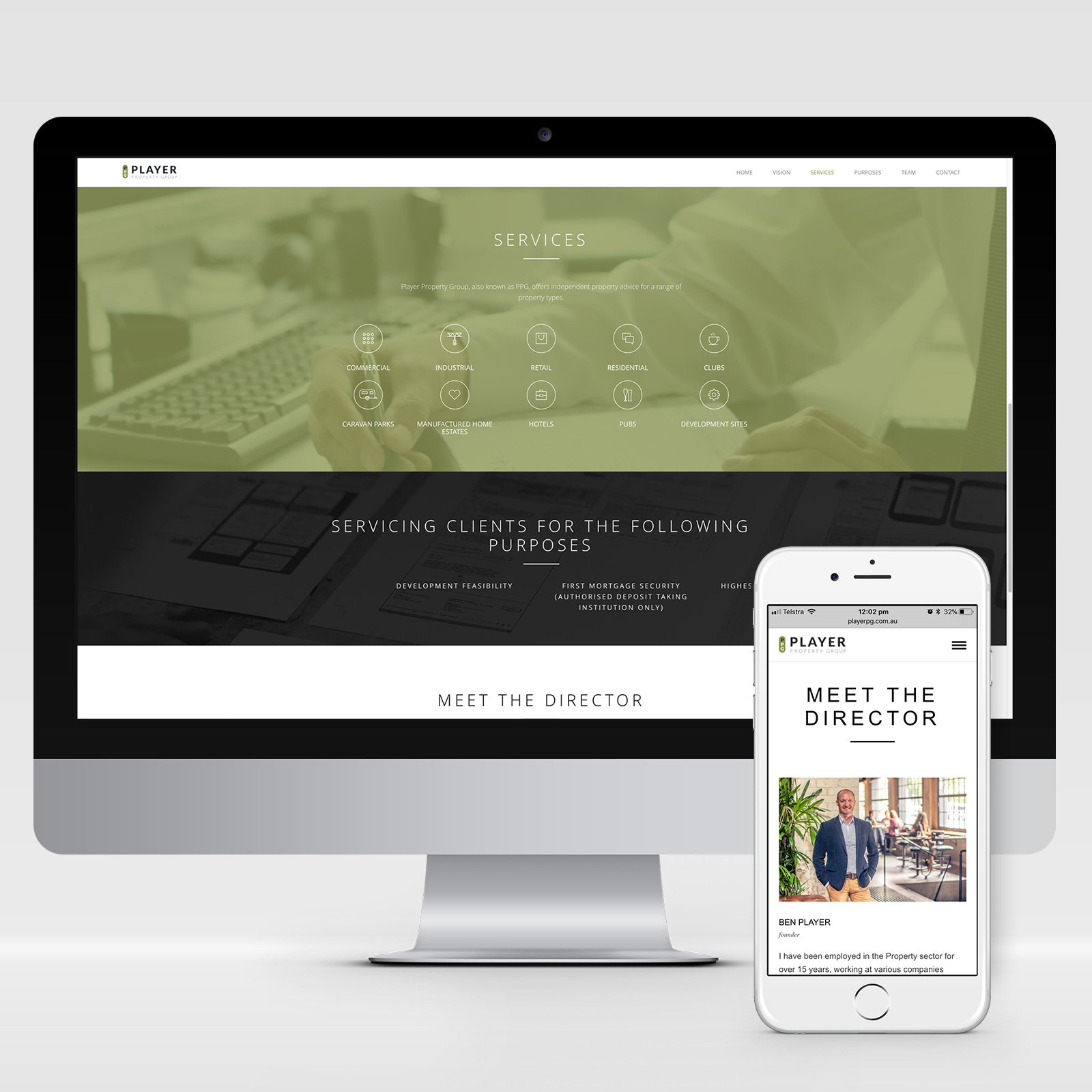 Player Property Group Responsive Website