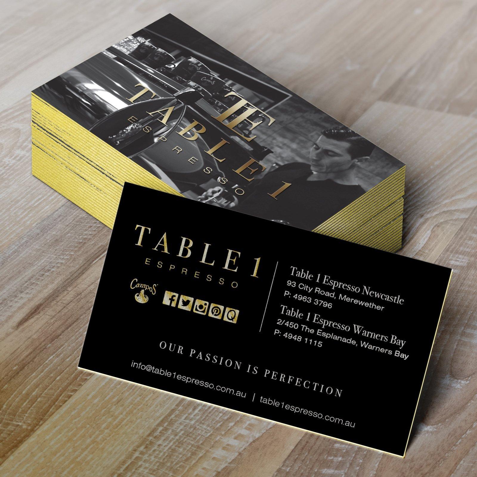 Table 1 Espresso Business Card