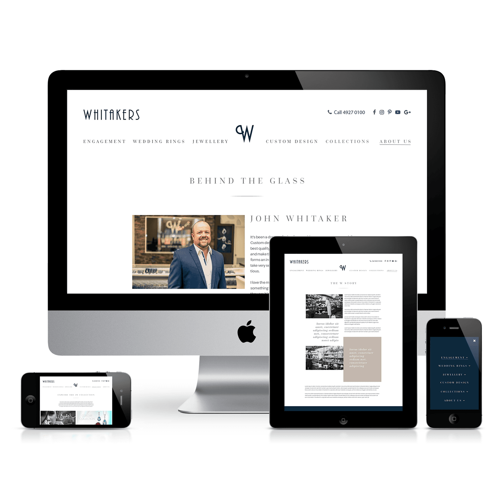 Whitakers Website - Mobile Responsive
