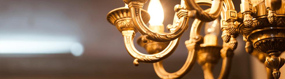 Componenti lampadari ottone