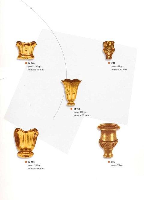 Padelline lampadari ottone