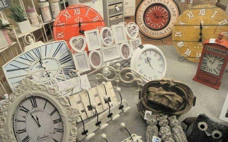 orologi arredamento shabby chic