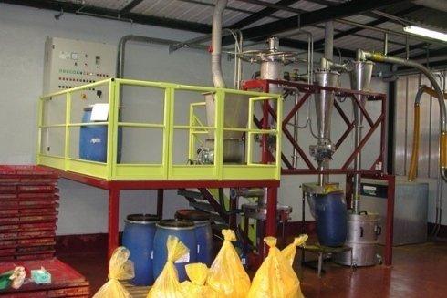 Impianto di micronizzazione per coloranti alimentari