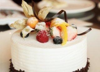 composizione di frutta, cioccolato plastico