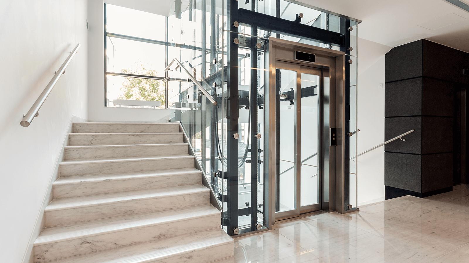 un ascensore all'interno di un edificio