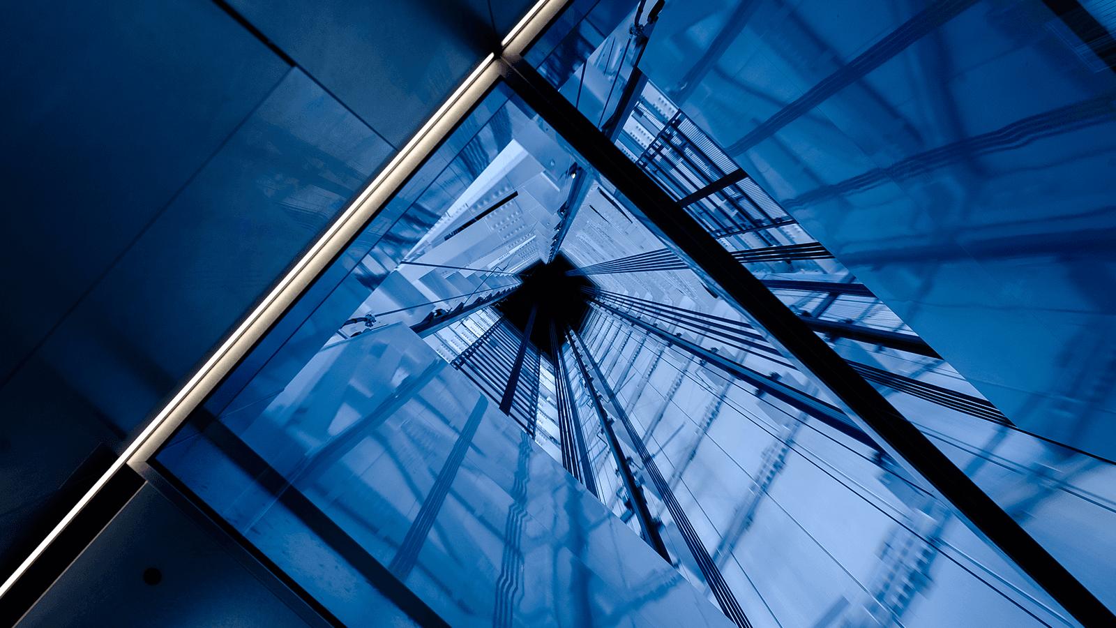la tromba dell'ascensore