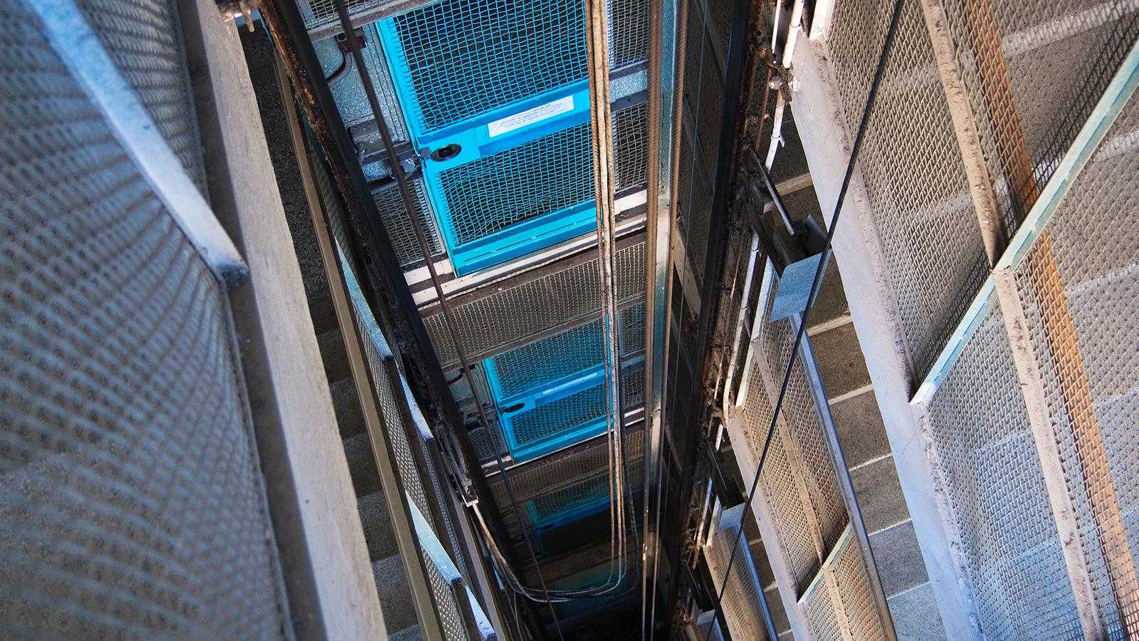 la tromba di un ascensore