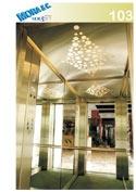 interno di un ascensore con degli specchi