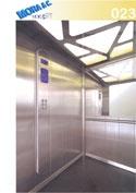 un ascensore in vetro con numero di modello 23