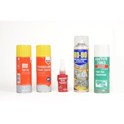 hydraulic oil spray