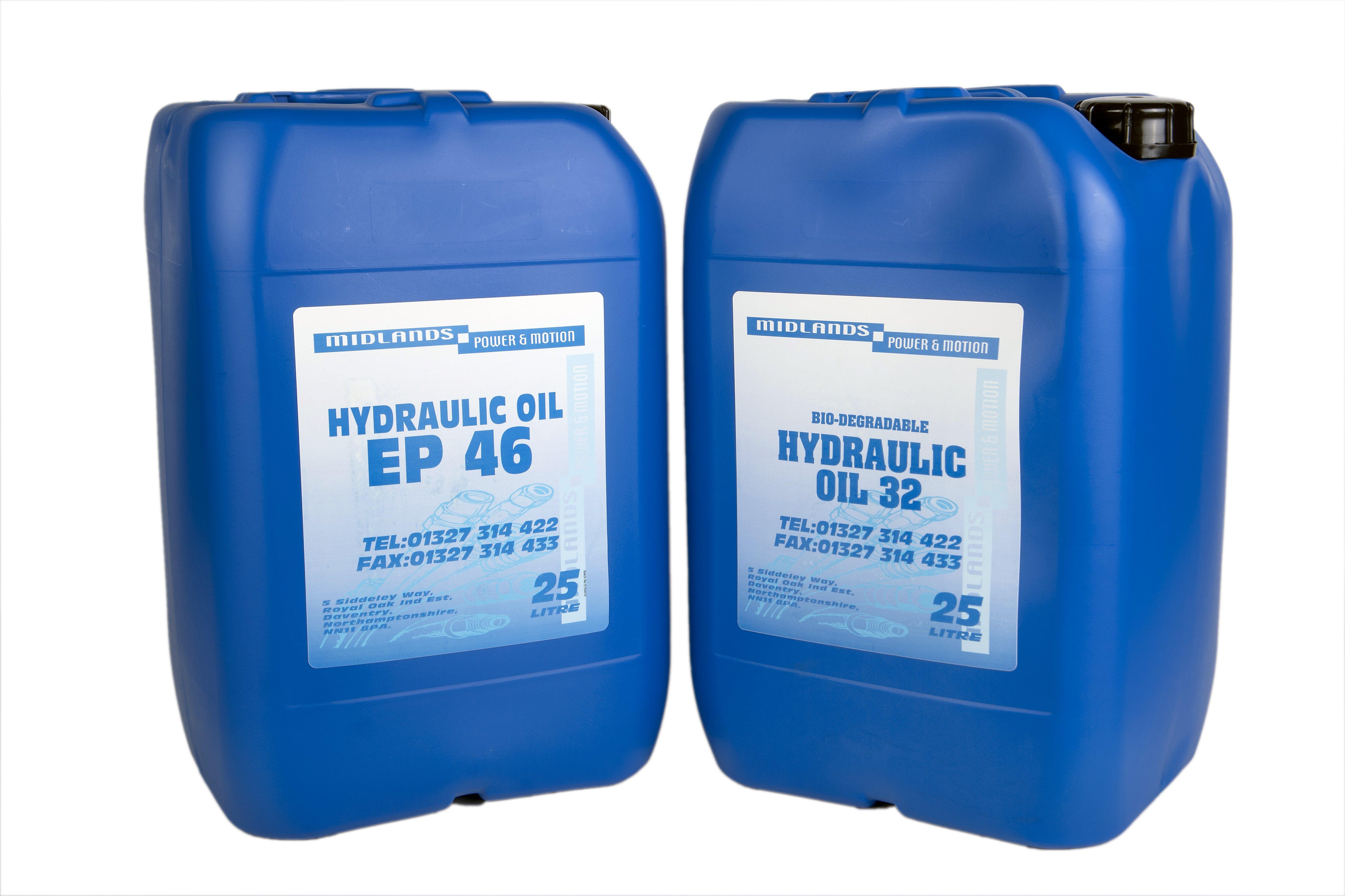 hydraulic oil cans