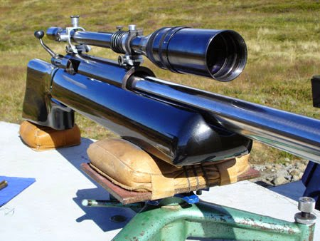 Front end of 1000 yards rifle