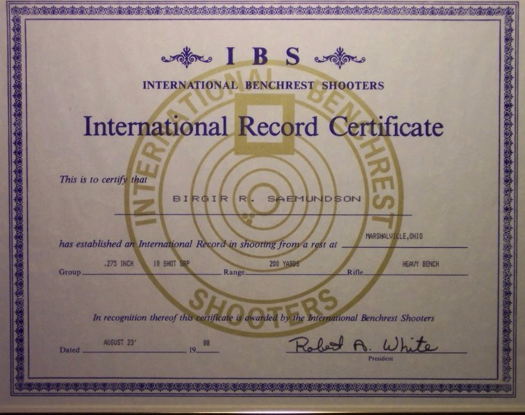 World Record 1988 IBS Nationals Ohio USA.