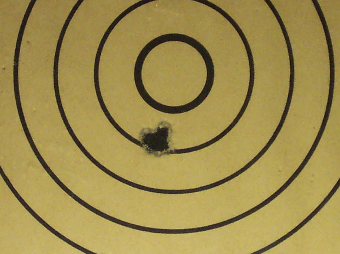 Target of world record H.B. Class 10 shots 0.275 inch.