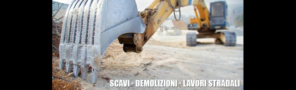 scavi demolizioni lavori stradali ruspa
