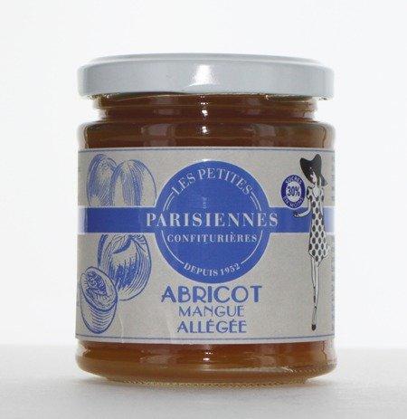 Délicieuse confiture allégée Les Petites Parisiennes saveur Abricot Mangue