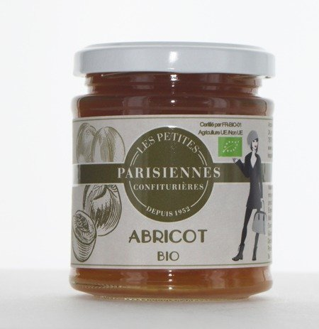 Délicieuse confiture Bio Les Petites Parisiennes saveur Abricot