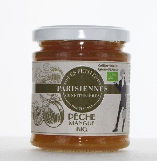 Délicieuse confiture Bio Les Petites Parisiennes saveur Pêche