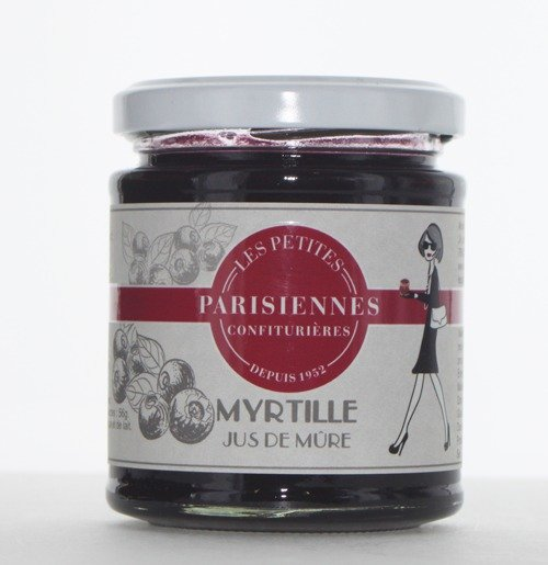 Savoureuse confiture Les Petites Parisiennes goût Myrtille