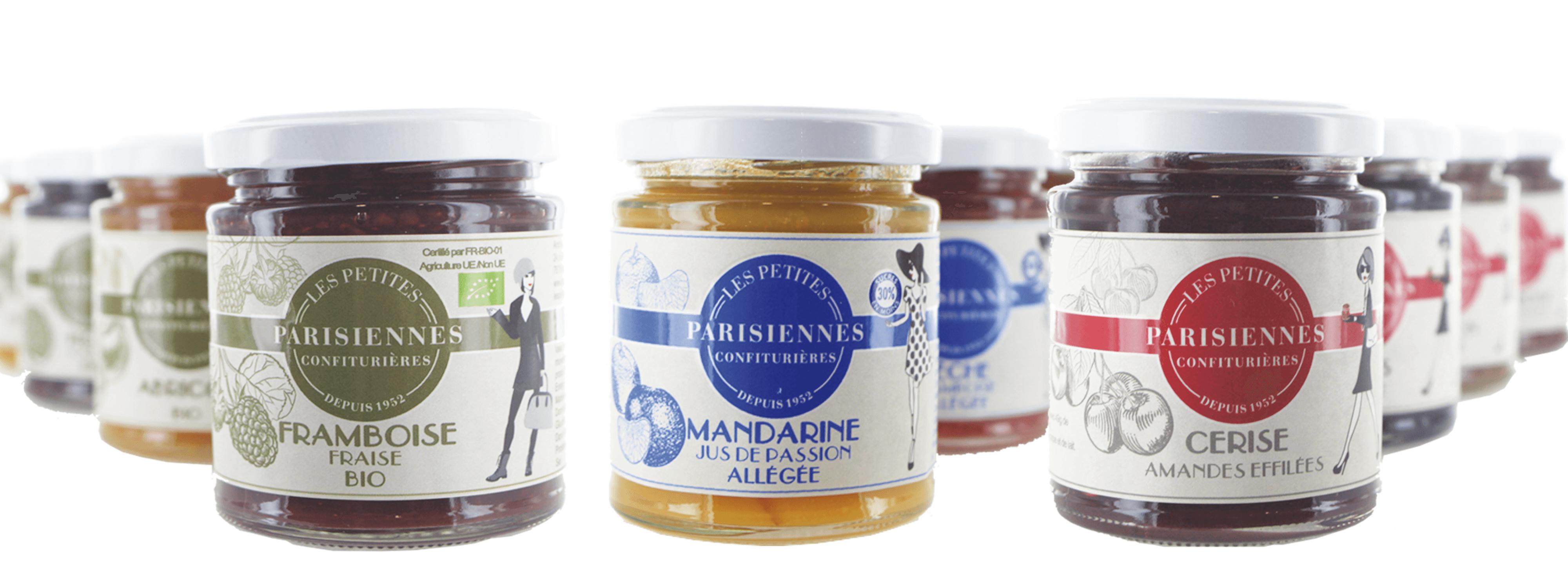 Vous trouverez toutes les saveurs qui vous plaisent parmi les délicieuses confitures Les Petites Parisiennes