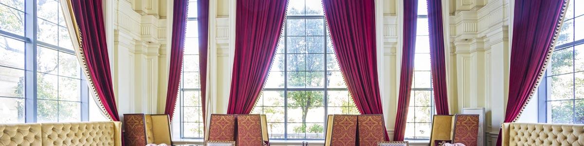 blind magic pink colour curtains