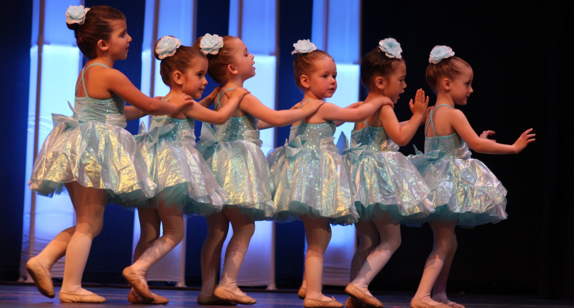 Six Ballerinas Performing