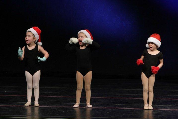Three tiny Christmas dancers