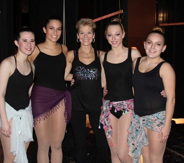 Four dancers with Lisa