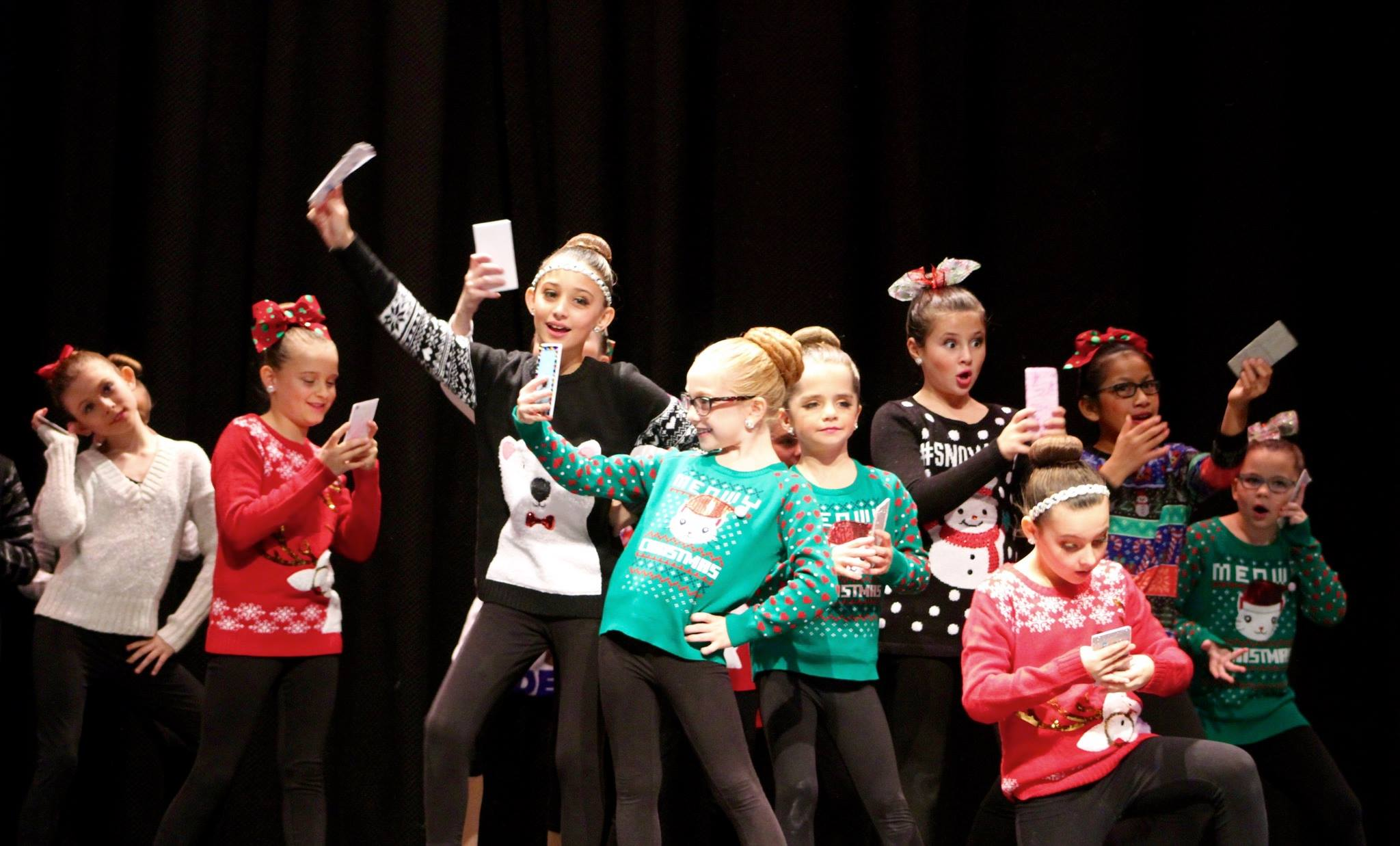 Dancers in Christmas Show
