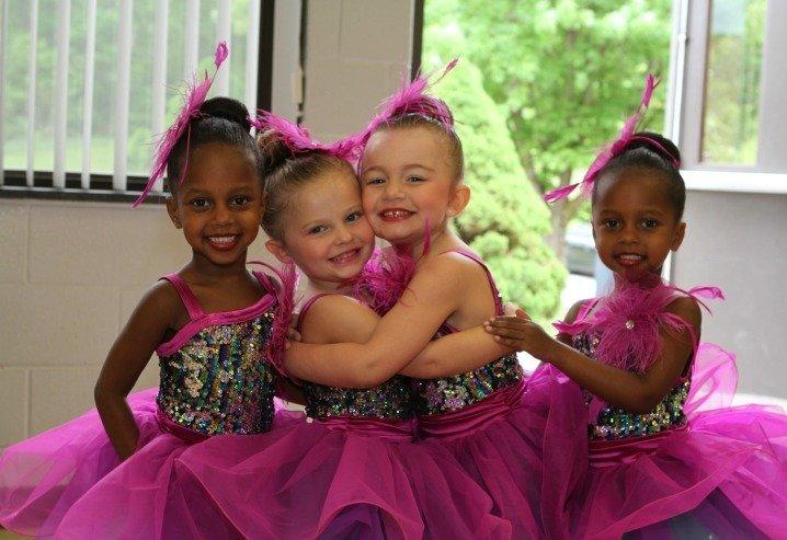 Happy Hugging Little Ballerinas