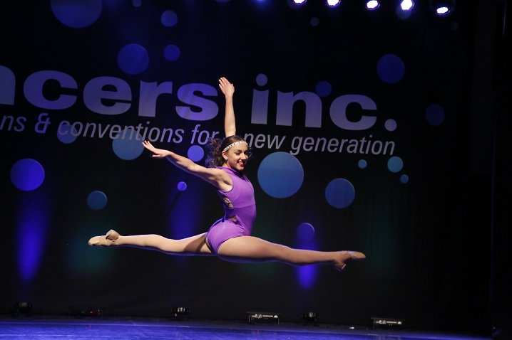Dancer in mid-flight
