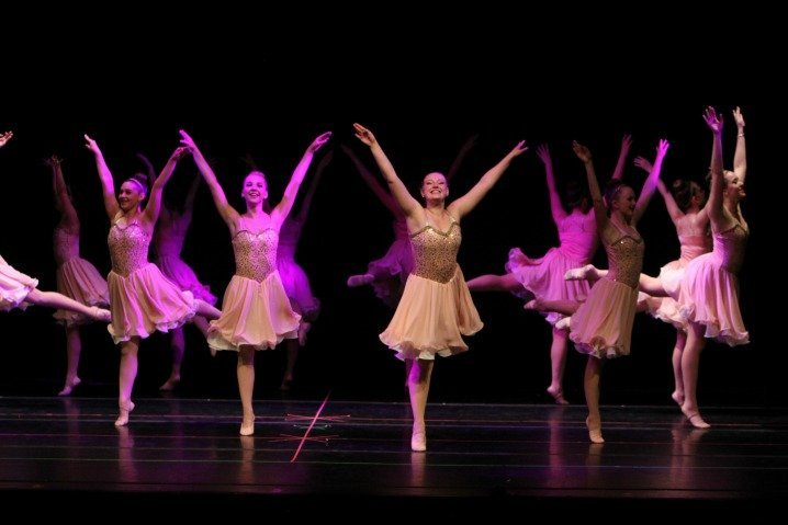 Teenage Ballerinas Performing