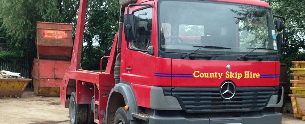 County Skip Hire Ltd company vehicle