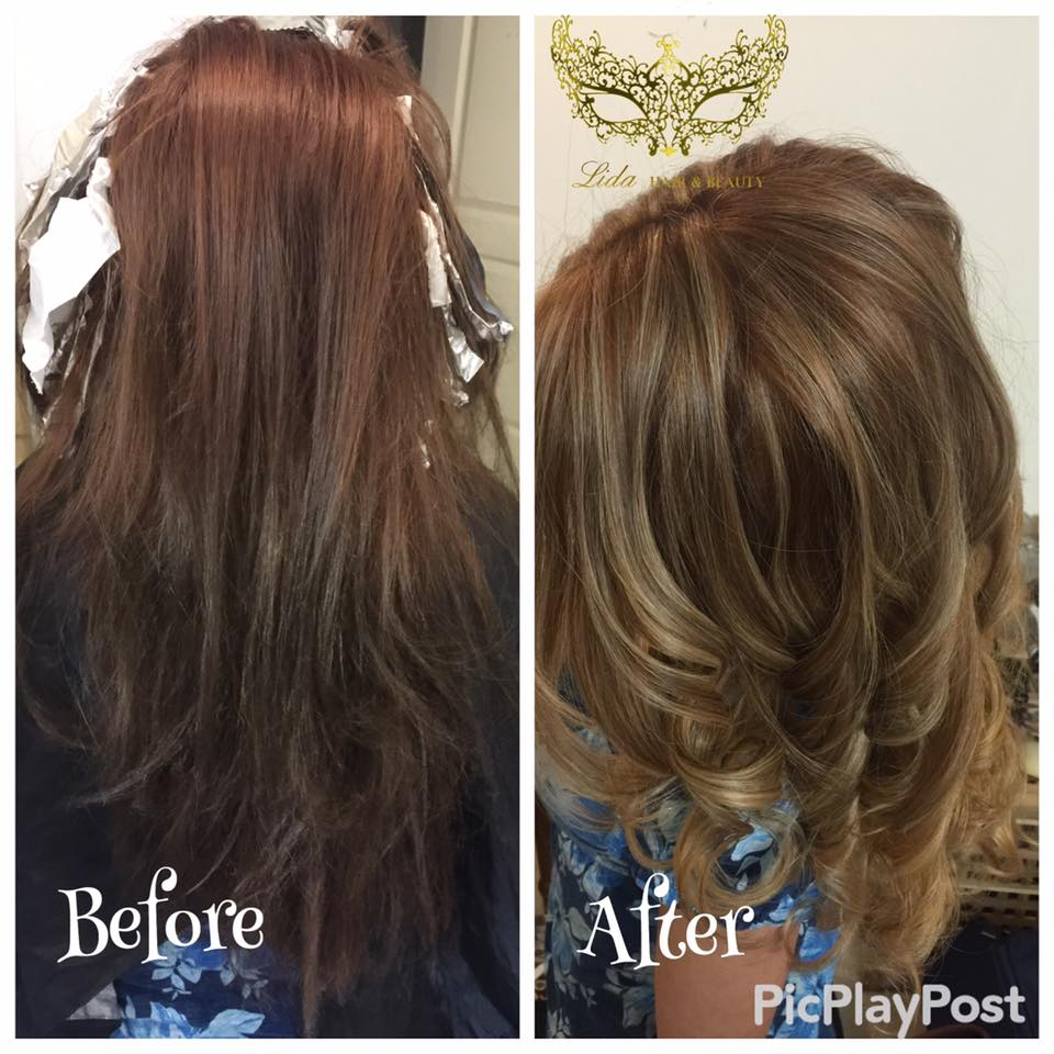 before and after hair styling
