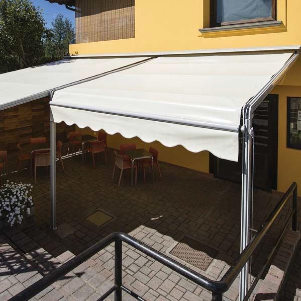 tenda fissa in alluminio